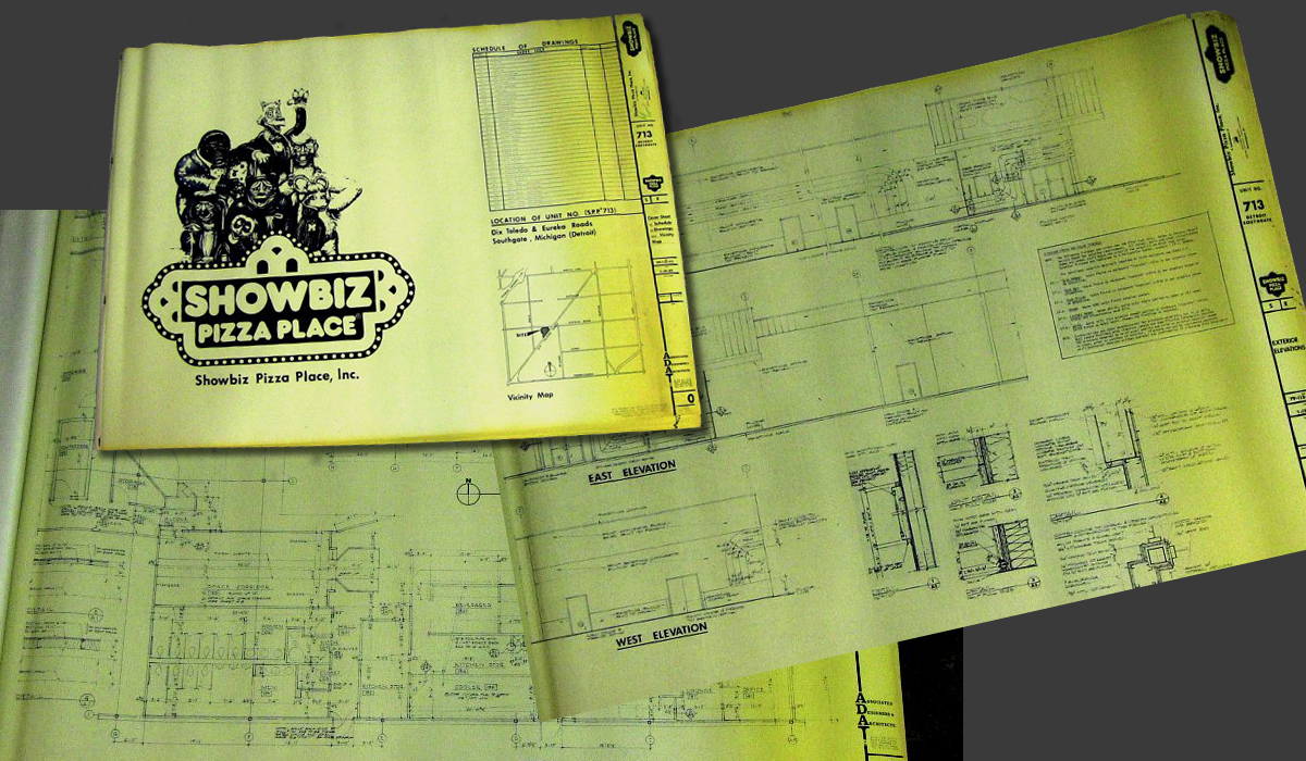 Creative Engineering's Showbiz Pizza blueprint - Detroit location